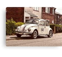 Herbie Comes To Ormskirk! Canvas Print