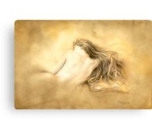 Raw Umber Nude by David Evans  Canvas Print