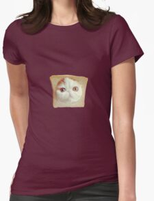 Toaster Cat Womens Fitted T-Shirt