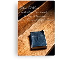 The Book I Love Canvas Print