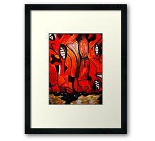 Outback Cliff Framed Print