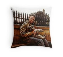 Holding The Dog Throw Pillow