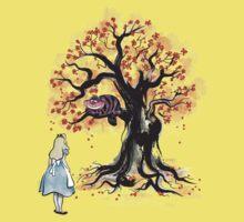 The Cheshire's Tree sumi-e Kids Tee