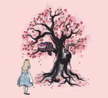 The Cheshire's Tree sumi-e One Piece - Short Sleeve