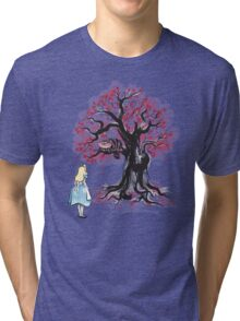 The Cheshire's Tree sumi-e Tri-blend T-Shirt