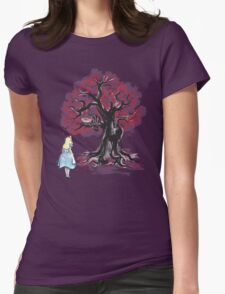 The Cheshire's Tree sumi-e Womens Fitted T-Shirt