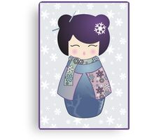Winter kokeshi Canvas Print