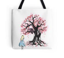 The Cheshire's Tree sumi-e Tote Bag
