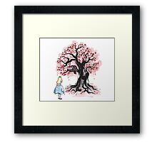 The Cheshire's Tree sumi-e Framed Print