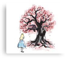The Cheshire's Tree sumi-e Canvas Print