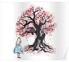 The Cheshire's Tree sumi-e Poster