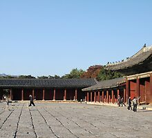 Changgyeong Palace Entry Courtyard, Seoul, Korea by Jane McDougall
