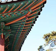 Changgyeong Palace Eaves, Seoul, Korea by Jane McDougall