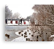 Coronation Park Lake - Ormskirk Canvas Print