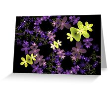 Strange Flowers Greeting Card