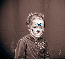 Bella with Facepaint Photographic Print