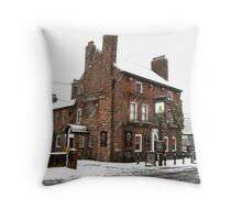 The Windmill - Snow Scene Throw Pillow