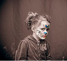 Isabelle with Facepaint Photographic Print