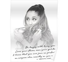 Ariana Grande Quote #1 Poster
