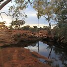 Sunrise at Bowanoo Rockhole by Cheryl Parkes
