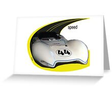 Here Comes Speed Racer Greeting Card
