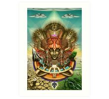 Young Sadhu's visionary pilgrimage Art Print