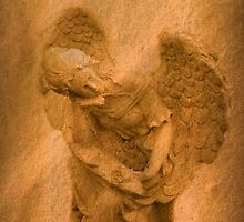Vintage Angel Thinking of You (with poem) by Marie Sharp