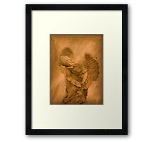 Vintage Angel Thinking of You (with poem) Framed Print