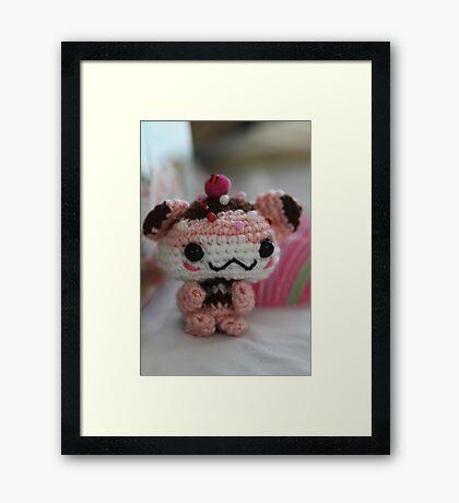 Hamster Cupcake Framed Print