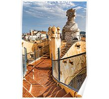 Gaudi's Fascinating Rooftop – Impressions Of Barcelona Poster