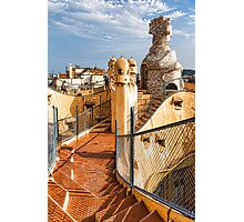 Gaudi's Fascinating Rooftop – Impressions Of Barcelona Photographic Print