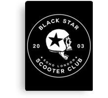 BLACK STAR SCOOTER CLUB  Canvas Print