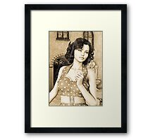 Vintage Woman Framed Print