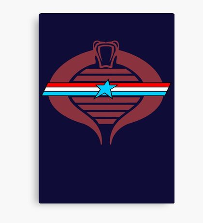 G.I. Cobra Logo Canvas Print