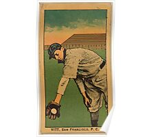 Benjamin K Edwards Collection Vitt San Francisco Team baseball card portrait Poster