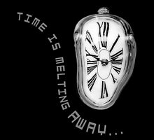 Salvador Dali Inspired Melting Clock. Time is melting away. by va103