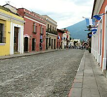 Antigua streetscape by ecotterell