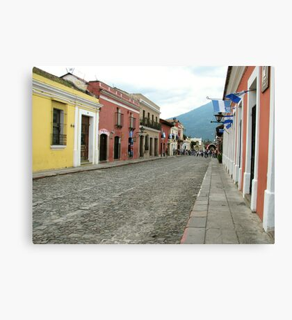Antigua streetscape Canvas Print