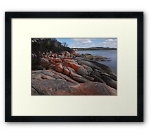Orange coloured granite Framed Print