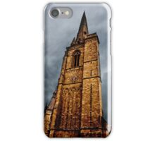 Ominous Church Clock Tower  and Foreboding Weather iPhone Case/Skin