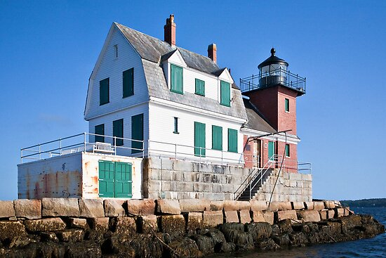 Rockland Breakwater Lighthouse II by PhotosByHealy