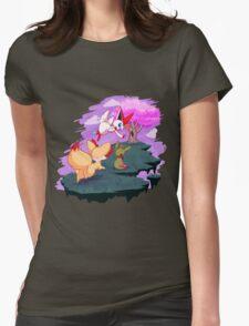 Victini and the Sakura Tree Womens Fitted T-Shirt