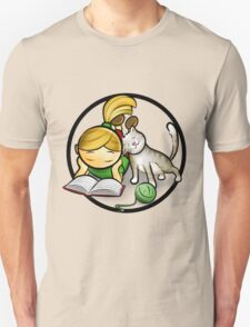 Girl & cute Kitten cartoony T-Shirt