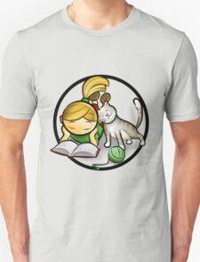 Girl & cute Kitten cartoony T-Shirt