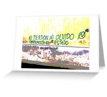 Zapatista graffiti Greeting Card