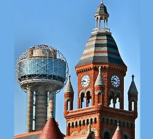 Dallas Old and New iPhone Case by Warren Paul Harris