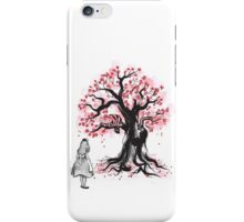 The Cheshire's Tree sumi-e (monochrome) iPhone Case/Skin