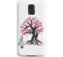 The Cheshire's Tree sumi-e (monochrome) Samsung Galaxy Case/Skin