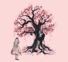 The Cheshire's Tree sumi-e (monochrome) One Piece - Short Sleeve