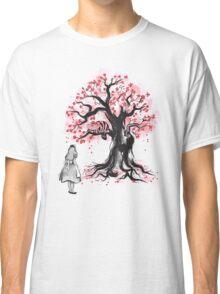 The Cheshire's Tree sumi-e (monochrome) Classic T-Shirt